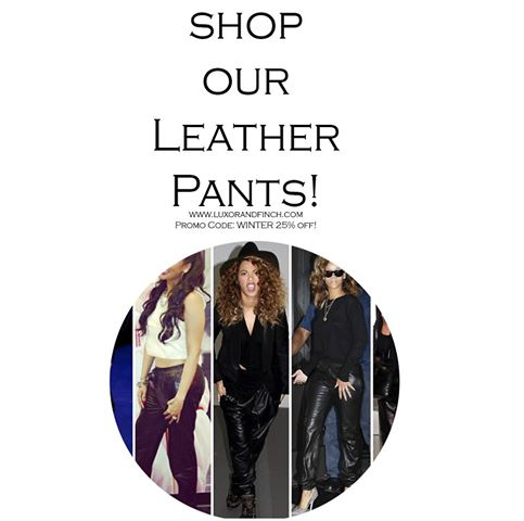 Order you leather pants on www.luxorandfinch.com