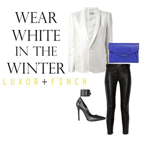 Wear white in the winter, We DARE you!