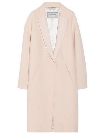By Malene Birger Fiurica oversized satin-trimmed piqué coat $775 NET-A-PORTER.COM