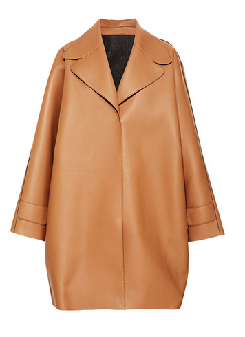 My Favorite!! Rochas Camel Oversize Calf Coat $5,940 MODAOPERANDI.COM This calf leather Rochas coat features a slightly oversize silhouette with notched collar, boxy sleeves,