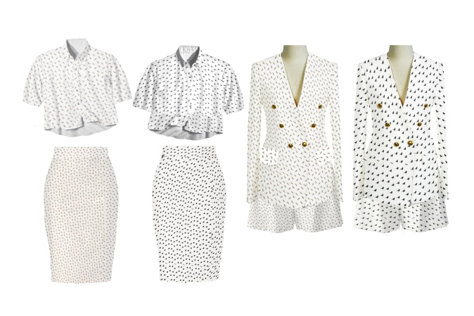 Sets combined, with different sizes to contrast top and botton