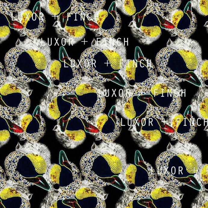water marked night bird pattern