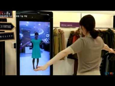 Magic mirror allows you to try clothing on virtually